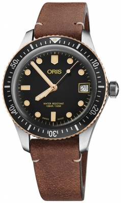 Buy this new Oris Divers Sixty Five 36mm 01 733 7747 4354-07 5 17 45 midsize watch for the discount price of £1,232.00. UK Retailer.