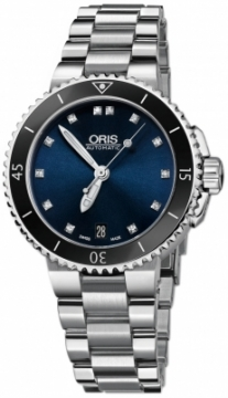 Oris Aquis Date Diamonds 36mm 01 733 7652 4195-07 8 18 01P watch