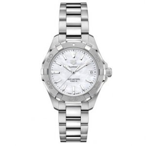 Buy this new Tag Heuer Aquaracer Quartz Ladies 32mm wbd1311.ba0740 ladies watch for the discount price of £1,062.00. UK Retailer.