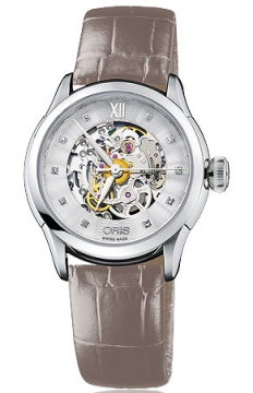 Oris Artelier Skeleton Diamonds Ladies watch, model number - 0156076044019-0751661FC, discount price of £1,310.00 from The Watch Source