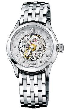 Oris Artelier Skeleton Diamonds Ladies watch, model number - 0156076044019-0781673, discount price of £1,365.00 from The Watch Source