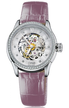 Oris Artelier Skeleton Diamonds Ladies watch, model number - 0156076044919-0751662FC, discount price of £2,050.00 from The Watch Source