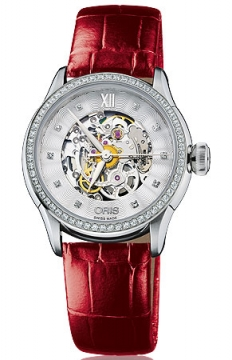 Oris Artelier Skeleton Diamonds Ladies watch, model number - 0156076044919-0751666FC, discount price of £2,050.00 from The Watch Source