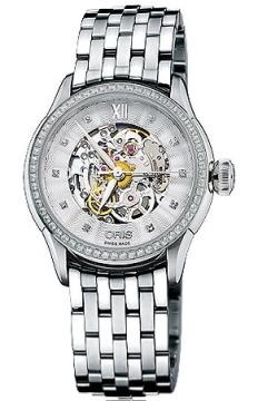 Oris Artelier Skeleton Diamonds Ladies watch, model number - 0156076044919-0781673, discount price of £2,105.00 from The Watch Source