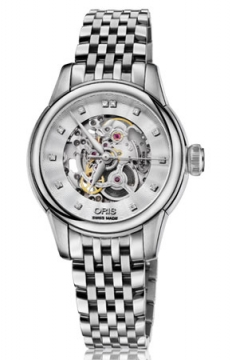 Oris Artelier Skeleton Diamonds Ladies watch, model number - 0156076874019-0781477, discount price of £1,365.00 from The Watch Source