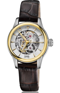 Oris Artelier Skeleton Ladies watch, model number - 0156076874351-0751470FC, discount price of £1,340.00 from The Watch Source