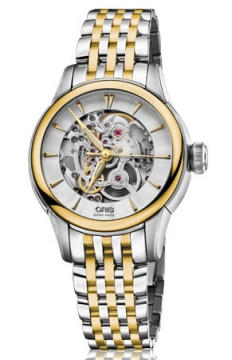 Oris Artelier Skeleton Ladies watch, model number - 0156076874351-0781478, discount price of £1,410.00 from The Watch Source