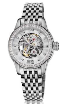 Oris Artelier Skeleton Diamonds Ladies watch, model number - 0156076874919-0781477, discount price of £2,105.00 from The Watch Source