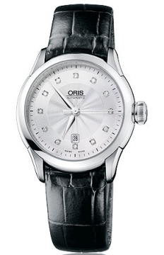 Oris Artelier Date Diamonds Ladies watch, model number - 0156176044041-0751671FC, discount price of £890.00 from The Watch Source