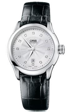 Oris Artelier Date Diamonds Ladies watch, model number - 0156176044041-0751671FC, discount price of £890.00 from The Watch Source