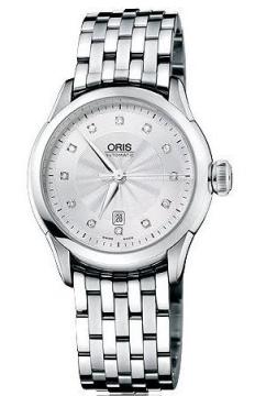 Oris Artelier Date Diamonds Ladies watch, model number - 0156176044041-0781673, discount price of £950.00 from The Watch Source