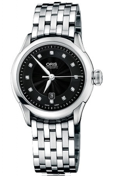 Oris Artelier Date Diamonds Ladies watch, model number - 0156176044099-0781673, discount price of £950.00 from The Watch Source