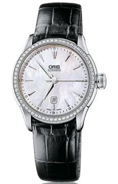 Oris Artelier Date Diamonds Ladies watch, model number - 0156176044956-0751671FC, discount price of £1,965.00 from The Watch Source