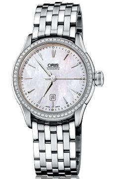 Oris Artelier Date Diamonds Ladies watch, model number - 0156176044956-0781673, discount price of £2,025.00 from The Watch Source