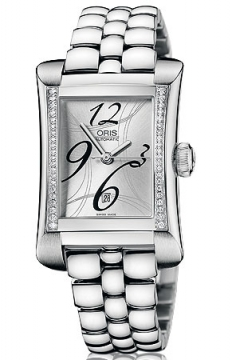 Oris Rectangular Date Diamonds Ladies watch, model number - 0156176214961-0781675, discount price of £1,530.00 from The Watch Source
