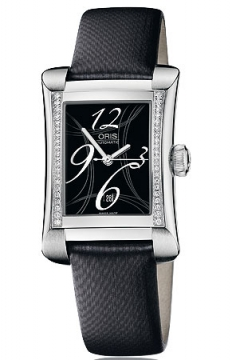 Oris Rectangular Date Diamonds Ladies watch, model number - 0156176214964-0751675, discount price of £1,475.00 from The Watch Source