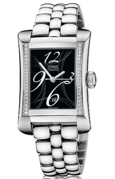 Oris Rectangular Date Diamonds Ladies watch, model number - 0156176214964-0781675, discount price of £1,530.00 from The Watch Source
