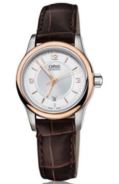 Oris Classic Date Ladies watch, model number - 0156176504331-0751410, discount price of £590.00 from The Watch Source