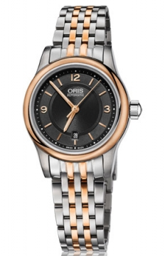 Oris Classic Date Ladies watch, model number - 0156176504334-0781463, discount price of £645.00 from The Watch Source
