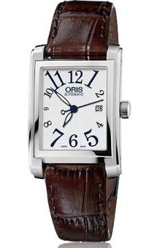 Oris Rectangular Date Midsize watch, model number - 0156176564061-0751770FC, discount price of £810.00 from The Watch Source