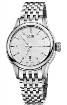 Oris Artelier Date Diamonds Ladies watch, model number - 0156176874051-0781477, discount price of £950.00 from The Watch Source