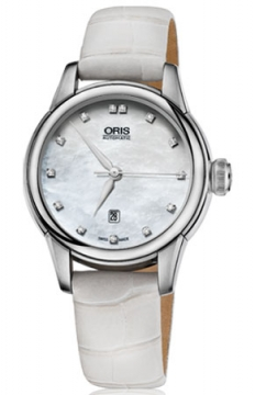 Oris Artelier Date Diamonds Ladies watch, model number - 0156176874091-0751467FC, discount price of £965.00 from The Watch Source