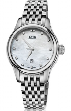 Oris Artelier Date Diamonds Ladies watch, model number - 0156176874091-0781477, discount price of £1,045.00 from The Watch Source