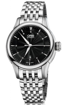 Oris Artelier Date Diamonds Ladies watch, model number - 0156176874094-0781477, discount price of £950.00 from The Watch Source