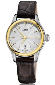 Oris Artelier Date Diamonds Ladies watch, model number - 0156176874351-0751470FC, discount price of £965.00 from The Watch Source