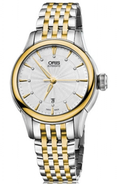 Oris Artelier Date Diamonds Ladies watch, model number - 0156176874351-0781478, discount price of £1,025.00 from The Watch Source