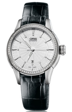Oris Artelier Date Diamonds Ladies watch, model number - 0156176874951-0751460FC, discount price of £1,595.00 from The Watch Source