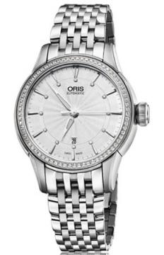 Oris Artelier Date Diamonds Ladies watch, model number - 0156176874951-0781477, discount price of £1,655.00 from The Watch Source