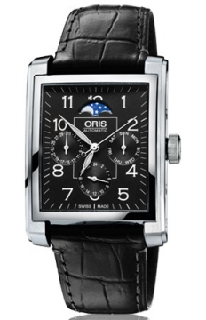 Oris Rectangular Complication Mens watch, model number - 0158276584034-0752371FC, discount price of £1,130.00 from The Watch Source