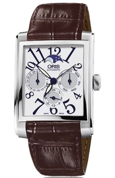 Oris Rectangular Complication Mens watch, model number - 0158276584061-0752370FC, discount price of £1,130.00 from The Watch Source