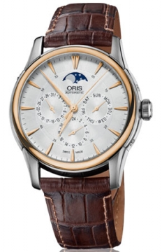 Oris Artelier Complication Mens watch, model number - 0158276896351-0752170FC, discount price of £1,845.00 from The Watch Source