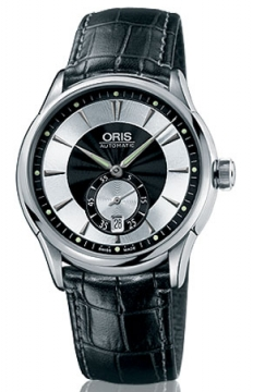 Oris Artelier Small Second, Date Mens watch, model number - 0162375824054-0752171FC, discount price of £885.00 from The Watch Source