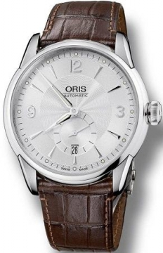Oris Artelier Small Second, Date Mens watch, model number - 0162375824071-0752170FC, discount price of £1,055.00 from The Watch Source
