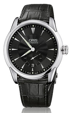 Oris Artelier Small Second, Date Mens watch, model number - 0162375824074-0752171FC, discount price of £1,055.00 from The Watch Source