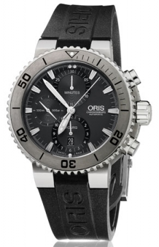 Oris Aquis Titan Chronograph 46mm Mens watch, model number - 0167476557253-0742634TEB, discount price of £2,040.00 from The Watch Source