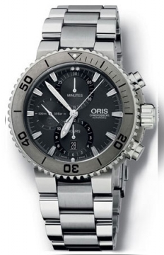 Oris Aquis Titan Chronograph 46mm Mens watch, model number - 0167476557253-0782675PEB, discount price of £2,160.00 from The Watch Source