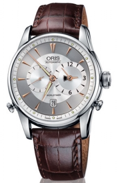 Oris Artelier Worldtimer Mens watch, model number - 0169075814051-0752248, discount price of £1,800.00 from The Watch Source