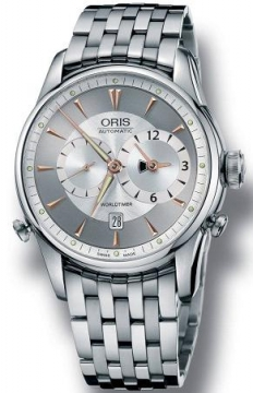 Oris Artelier Worldtimer Mens watch, model number - 0169075814051-0782273, discount price of £1,860.00 from The Watch Source