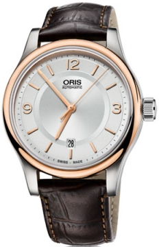 Oris Classic Date Mens watch, model number - 0173375944331-0752012, discount price of £590.00 from The Watch Source