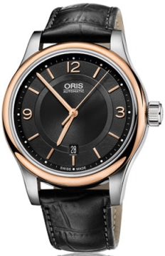 Oris Classic Date Mens watch, model number - 0173375944334-0752011, discount price of £590.00 from The Watch Source