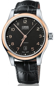 Oris Classic Date Mens watch, model number - 0173375944394-0752011, discount price of £555.00 from The Watch Source