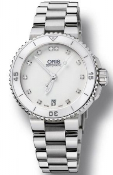 Oris Aquis Date Diamonds 36mm Ladies watch, model number - 0173376524191-0781801P, discount price of £1,105.00 from The Watch Source