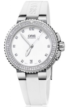 Oris Aquis Date Diamonds 36mm Midsize watch, model number - 0173376524991-0741831, discount price of £2,295.00 from The Watch Source