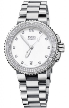 Oris Aquis Date Diamonds 36mm Midsize watch, model number - 0173376524991-0781801P, discount price of £2,350.00 from The Watch Source