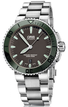 Oris Aquis Date 43mm Mens watch, model number - 0173376534157-0782601PEB, discount price of £955.00 from The Watch Source