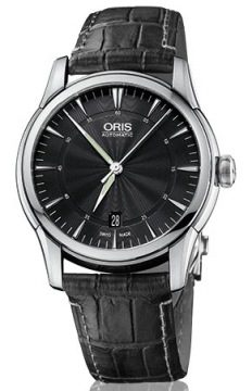 Oris Artelier Date 40mm Mens watch, model number - 0173376704054-0712174FC, discount price of £775.00 from The Watch Source